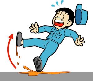 転倒している男性の図