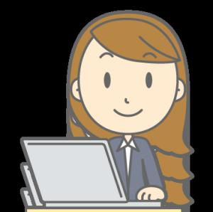 パソコン女性の図