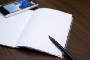 ノートとペンと携帯